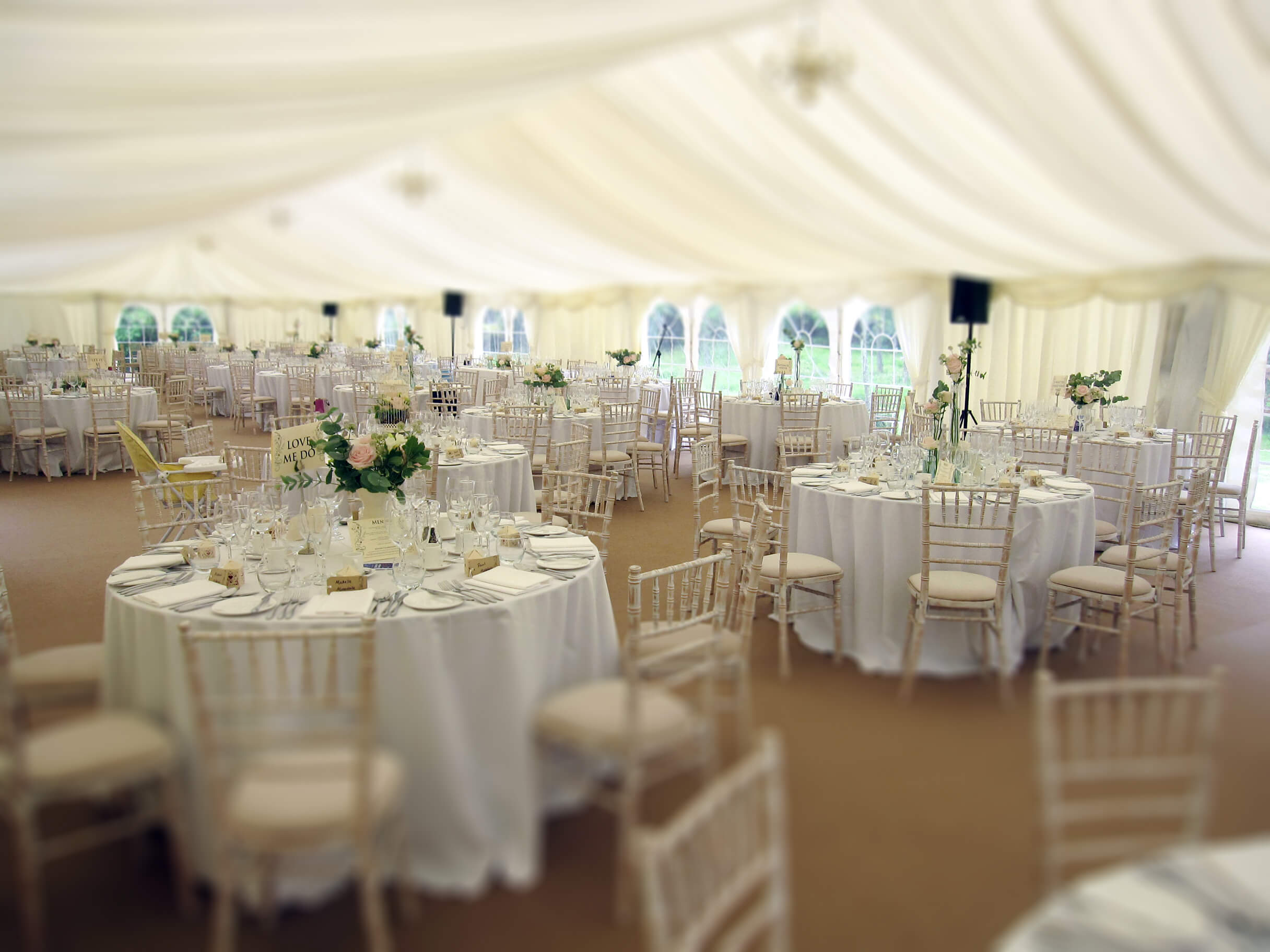 Marquee with Tables and Chairs